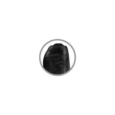 Dildo realista con glande retráctil negro 3 4