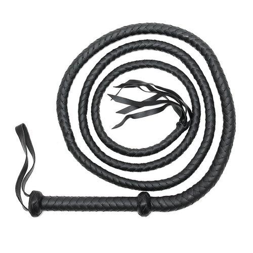 Látigo trenzado de cuero Bondage Play 250 cm