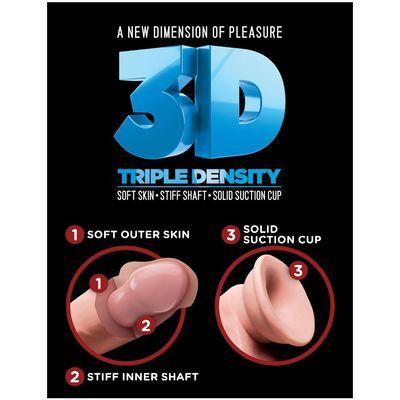 Dildo doble con triple densidad 24 cm 7
