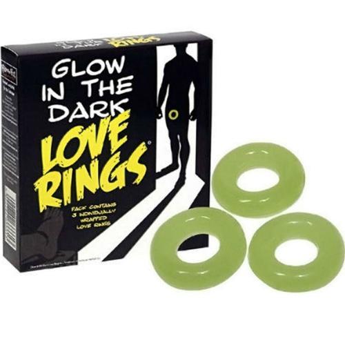 Pack de 3 anillos para el pene fluorescentes
