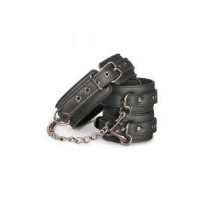 Kit de ligaduras collar y esposas para tobillos