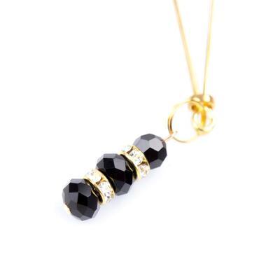 Pinzas para pezones doradas con bolas de cristal 3