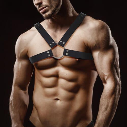 Arnes masculino en cuero vegano Darom
