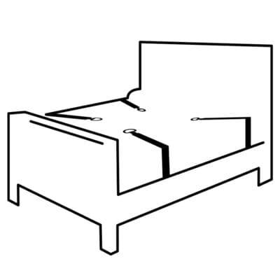 Kit de ataduras para la cama 2