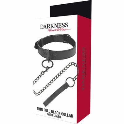 Collar con cadena negro 4