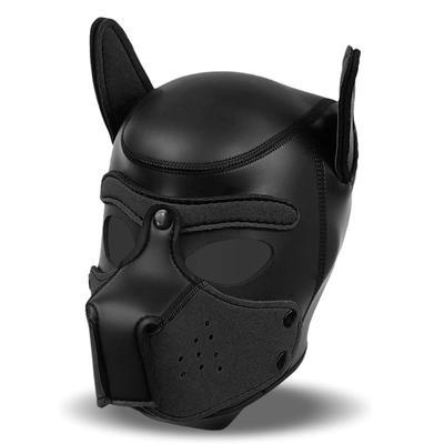 Mascara de perro de neopreno con hocico 2