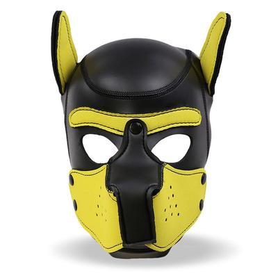 Mascara de perro de neopreno con hocico 3