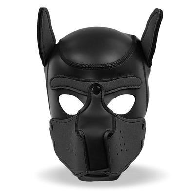 Mascara de perro de neopreno con hocico 4