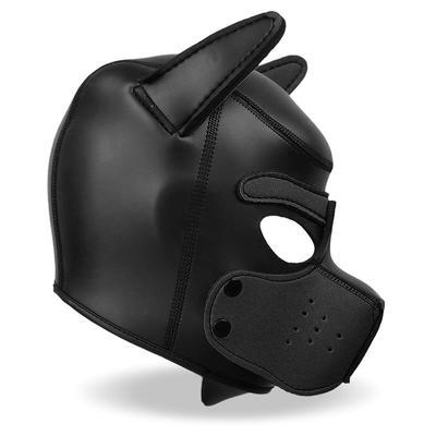 Mascara de perro de neopreno con hocico 5