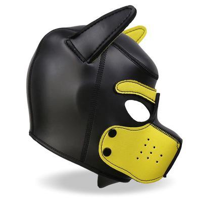 Mascara de perro de neopreno con hocico 6