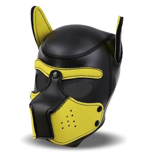 Mascara de perro de neopreno con hocico