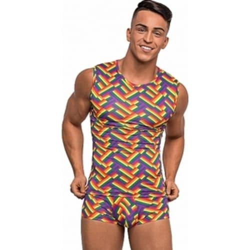 Camiseta Fitness impresa multicolor