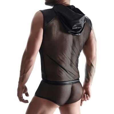 Camiseta sin mangas con capucha Wetlook Mesh 2