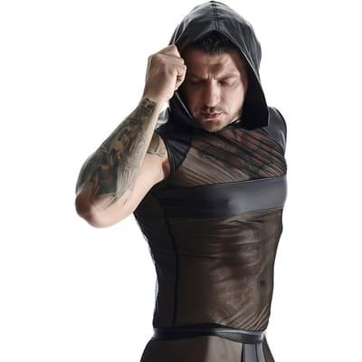 Camiseta sin mangas con capucha Wetlook Mesh 3