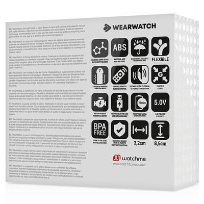 Vibrador dual aguamarina Wearwatch 10