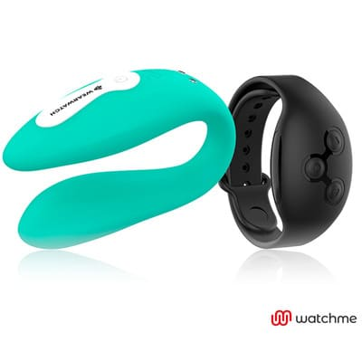 Vibrador dual aguamarina Wearwatch 4