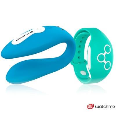 Vibrador dual azul Wearwatch 2