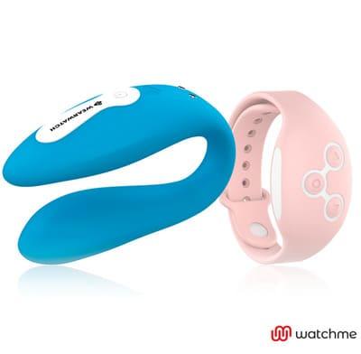 Vibrador dual azul Wearwatch 3