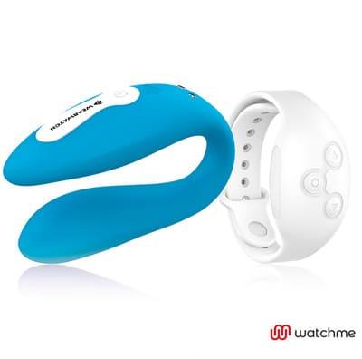 Vibrador dual azul Wearwatch 4
