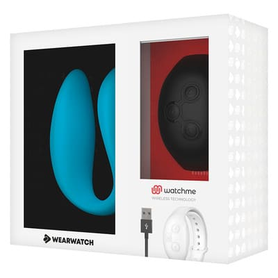 Vibrador dual azul Wearwatch 9