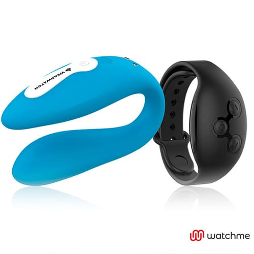 Vibrador dual azul Wearwatch