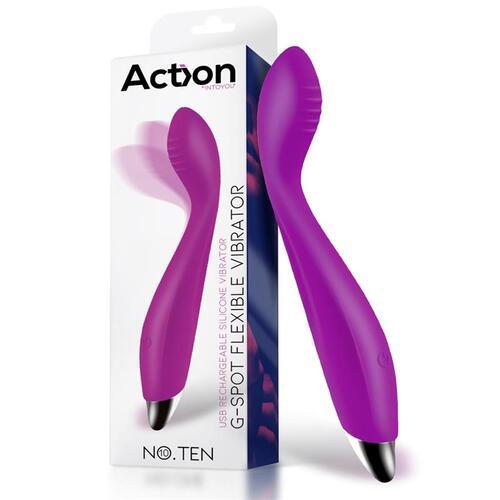 Vibrador hiper flexible punto G Ten