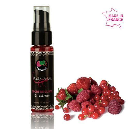 Gel lubricante base agua frutos rojos