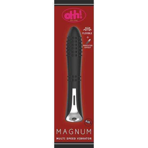 Vibrador con efecto percutor Magnum