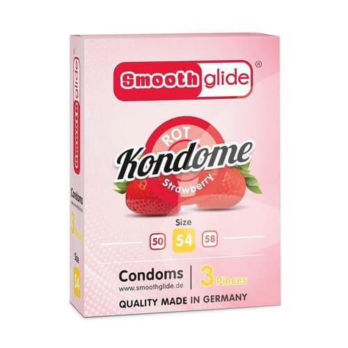 Preservativos fresa talla 54 pack 3 Uds