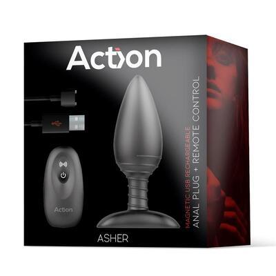 Plug anal con control remoto Asher 8