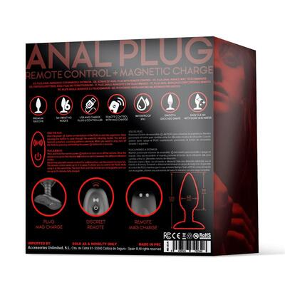 Plug anal con control remoto Asher 9