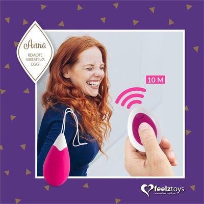 Huevo vibrador con control remoto Deep Pink Anna 4