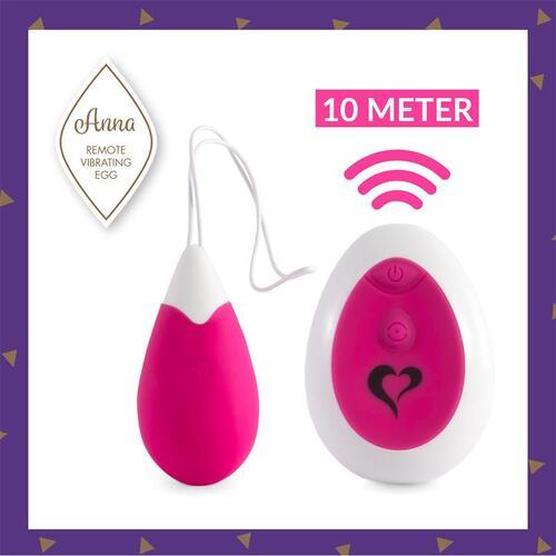 Huevo vibrador con control remoto Deep Pink Anna