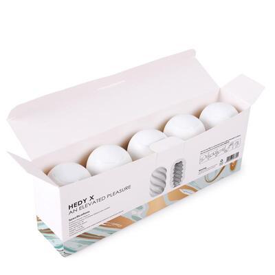 Pack de 5 huevos masturbadores Hedy X 3